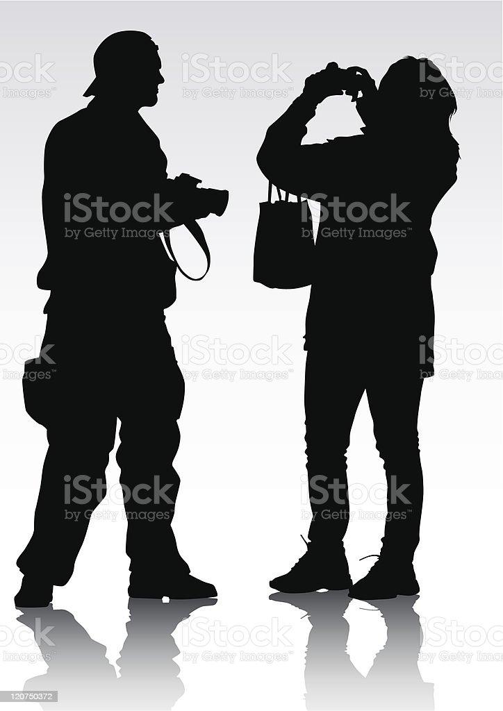 Photographer silhouette royalty-free stock vector art