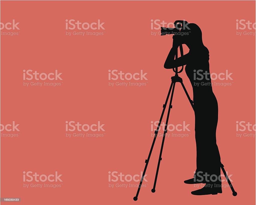 Photographer  ( Vector ) vector art illustration