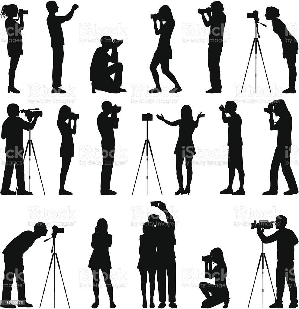 Photographers royalty-free stock vector art