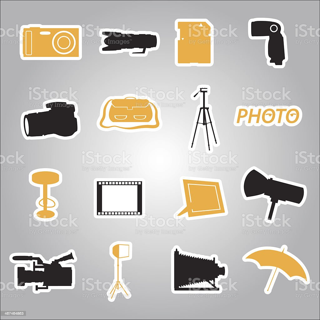 photographic stickers eps10 royalty-free stock vector art