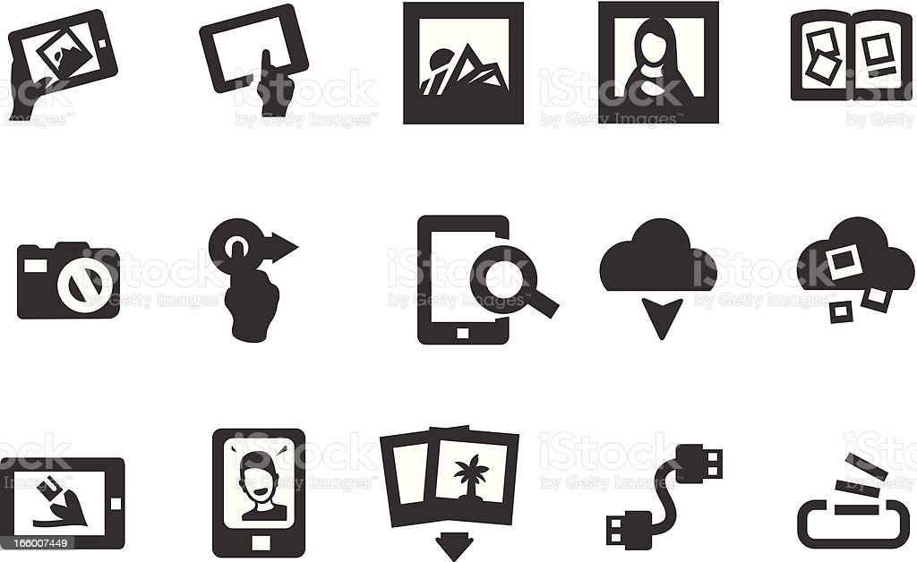 Photography Album Icons royalty-free stock vector art