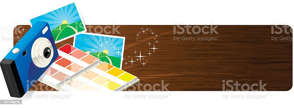 Photography Banner Header royalty-free stock vector art