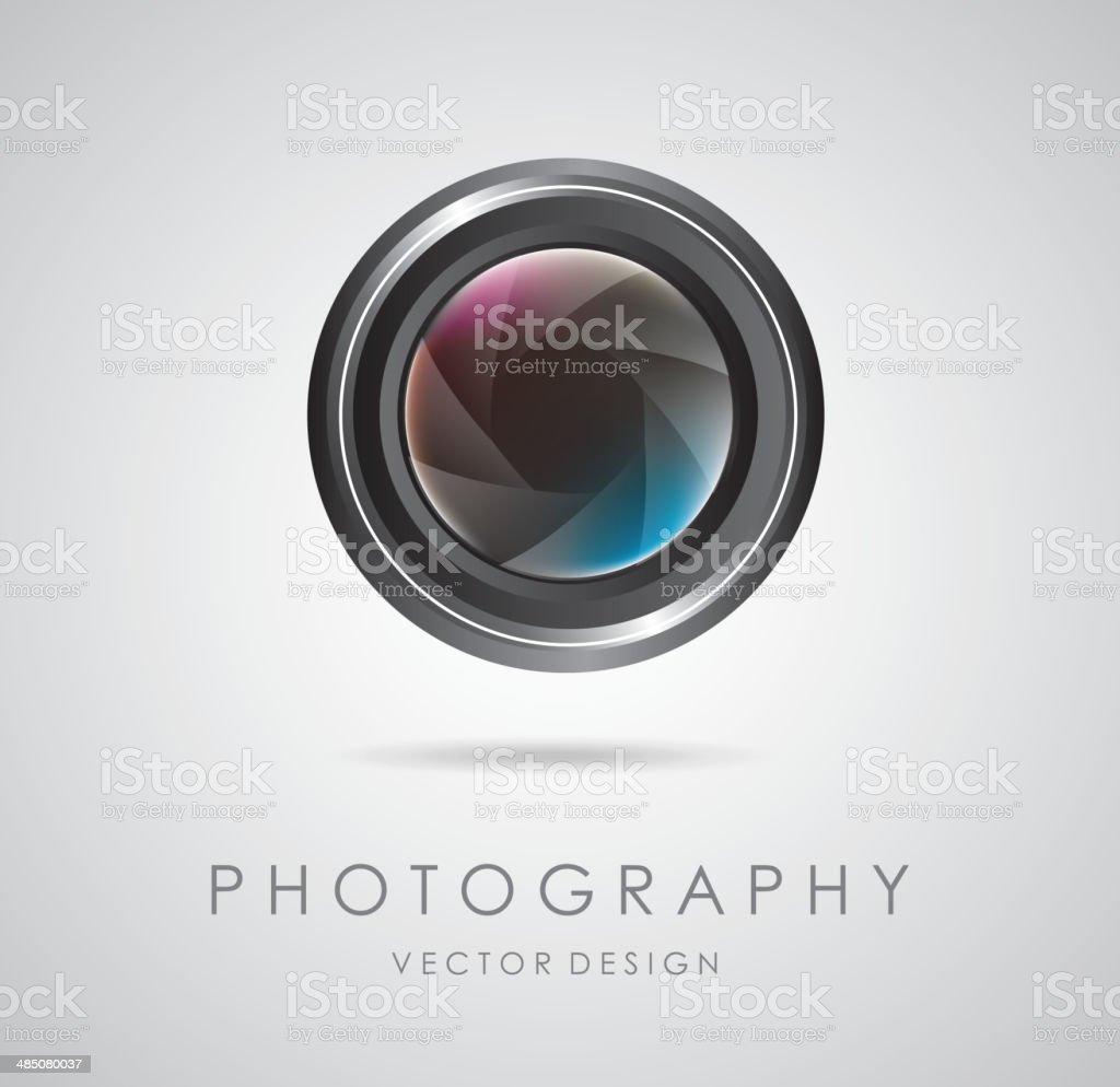 photography design vector art illustration