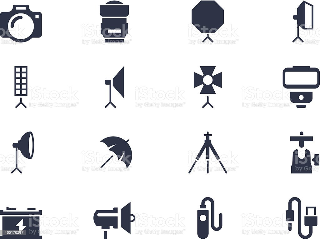 Photography equipment vector art illustration