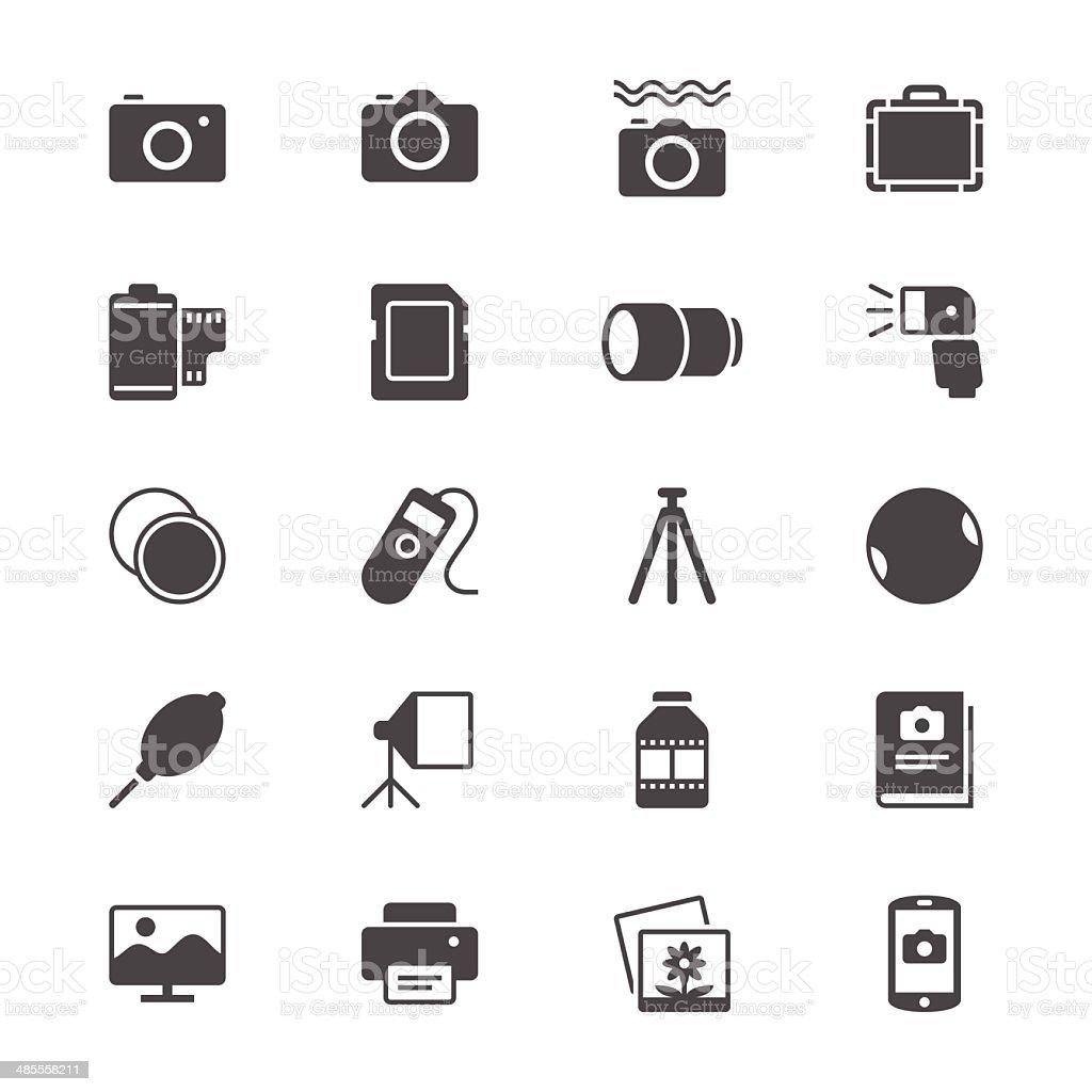 Photography flat icons vector art illustration