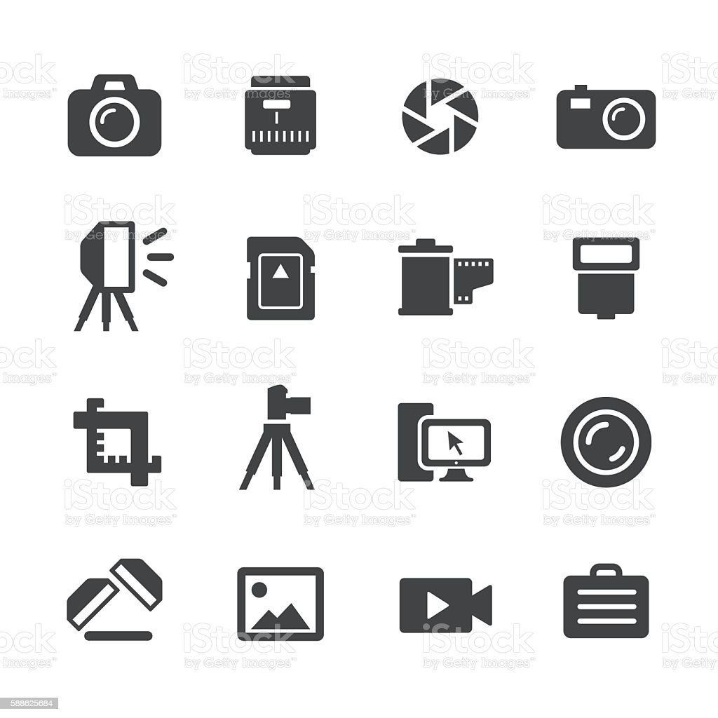 Photography Icons - Acme Series vector art illustration