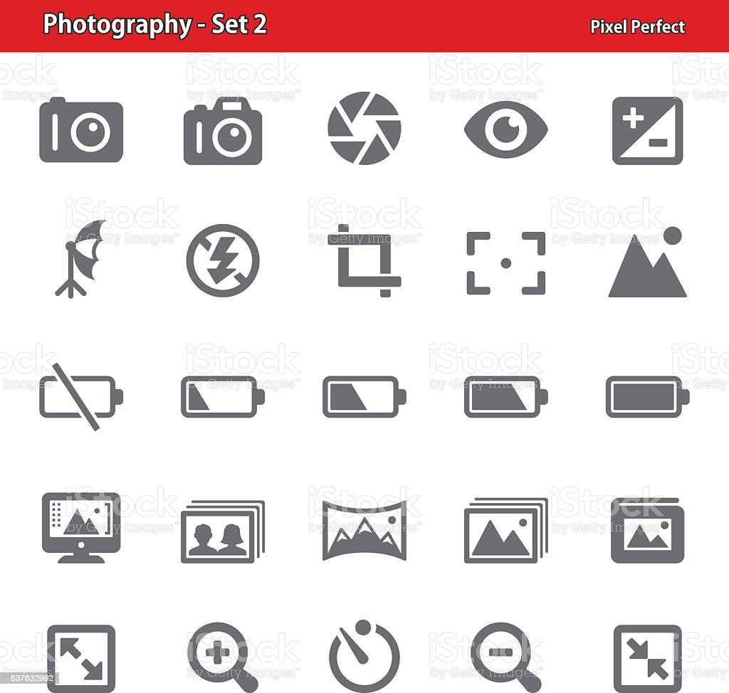 Photography Icons - Set 2 vector art illustration