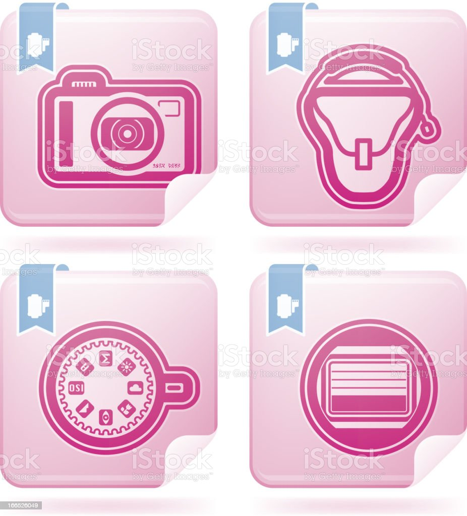 Photography Icons Set royalty-free stock vector art