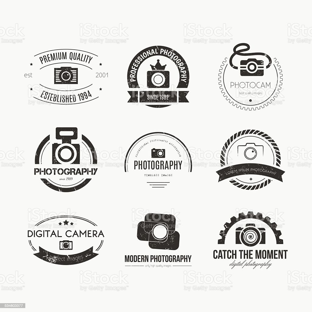 Photography Logos vector art illustration