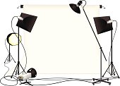 Photography studio and lighting equipment