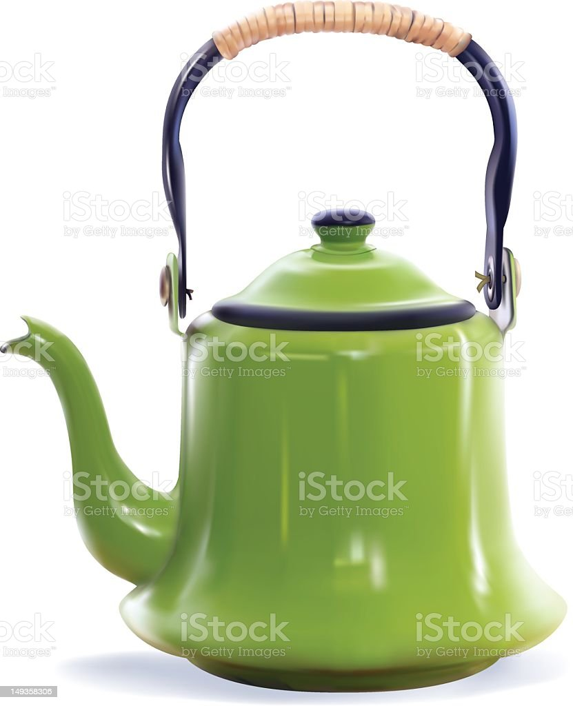 Photorealisitic Drawing of a Vintage Coffee Pot royalty-free stock vector art