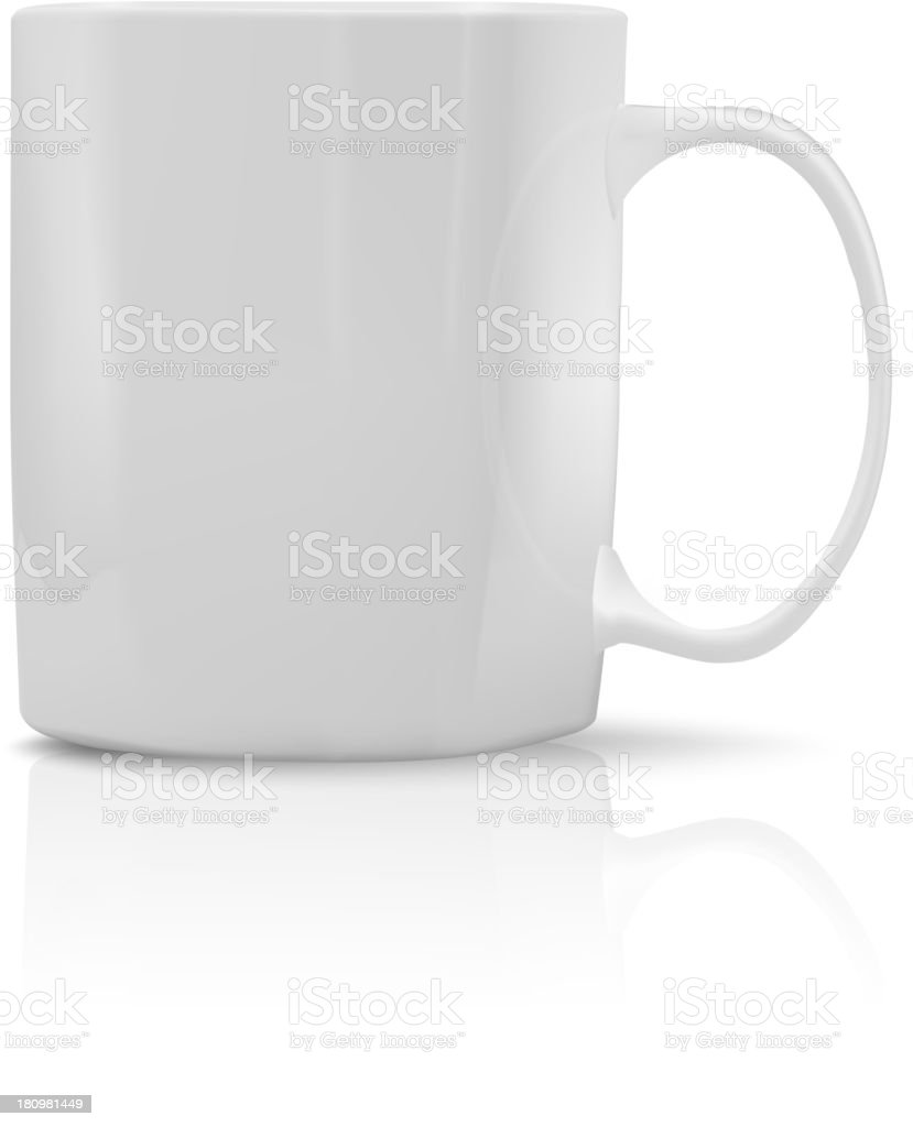 Photorealistic white cup royalty-free stock vector art