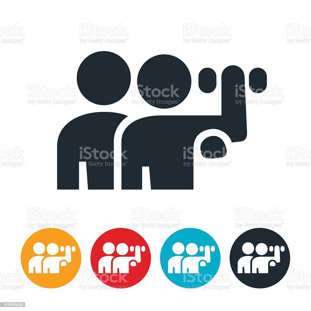 Physical Therapy Icon vector art illustration
