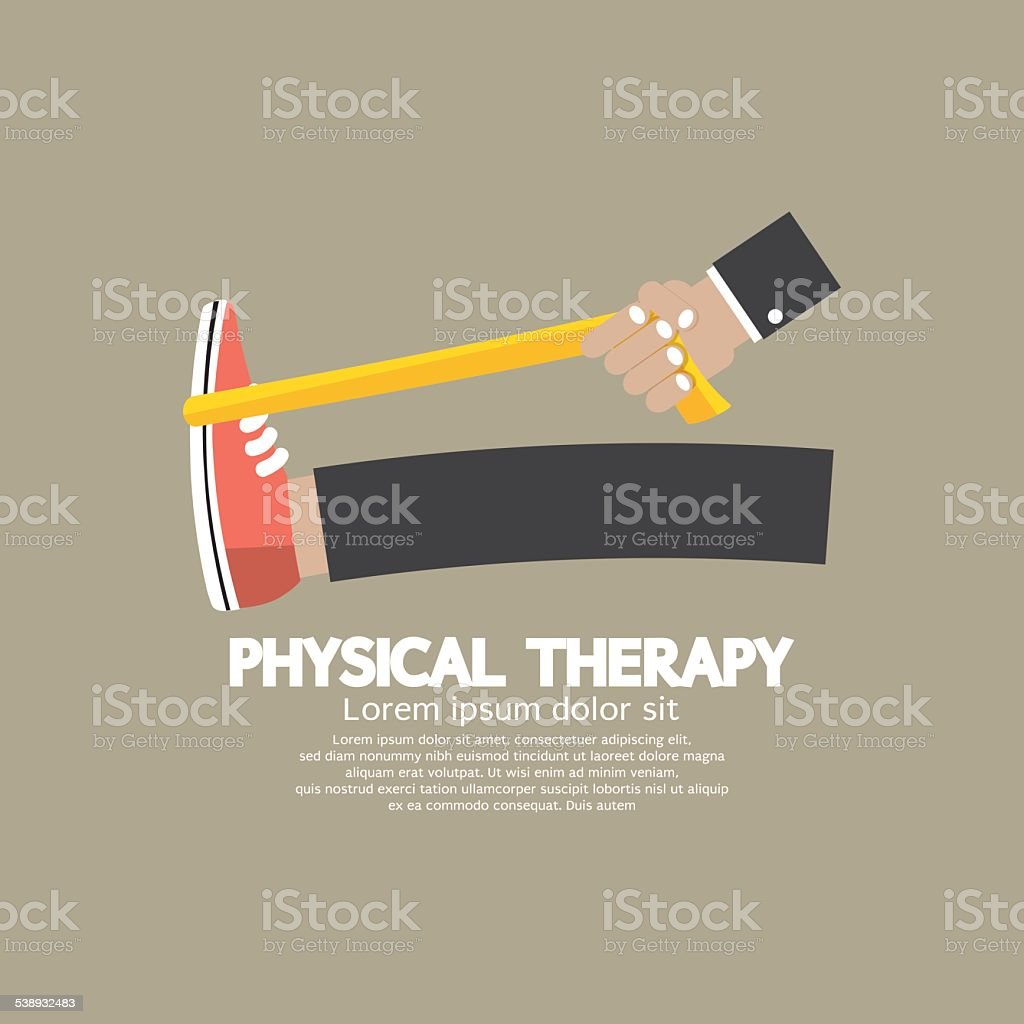Physical Therapy vector art illustration