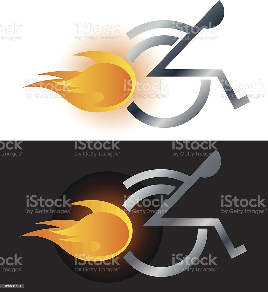 Physically Challenged Athlete vector art illustration