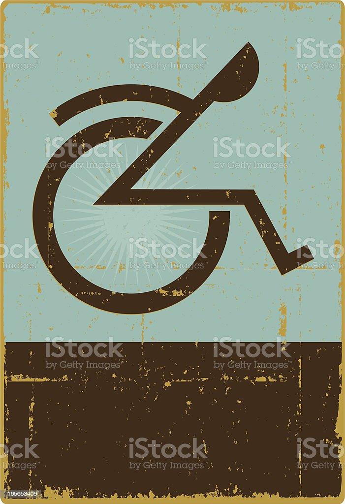 Physically Challenged Symbol vector art illustration