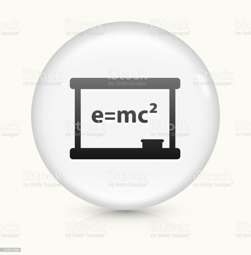 Physics Formula icon on white round vector button vector art illustration