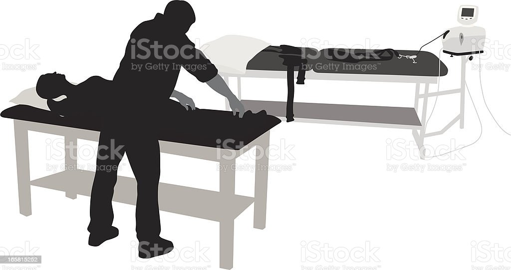 Physiotherapy Vector Silhouette royalty-free stock vector art