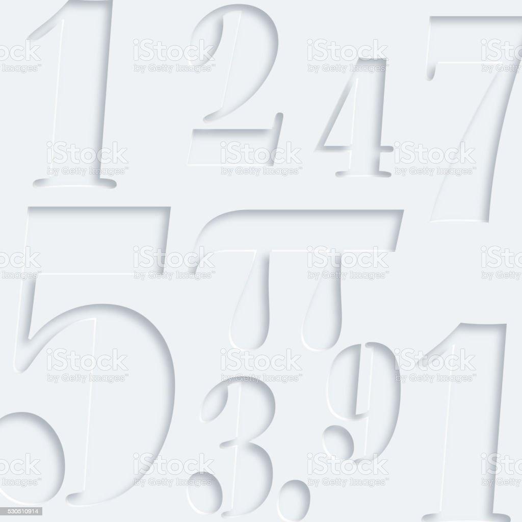 3D pi pattern vector art illustration