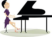 Pianist woman