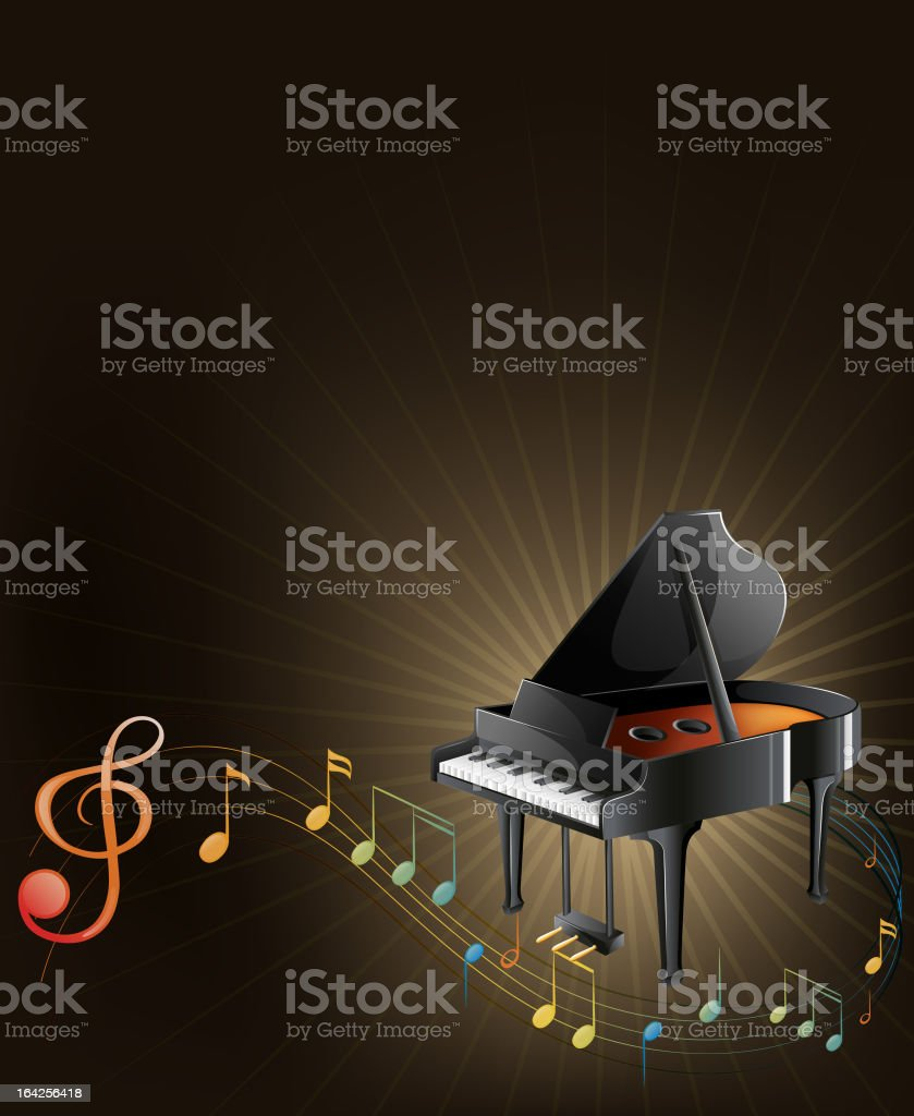Piano and music royalty-free stock vector art