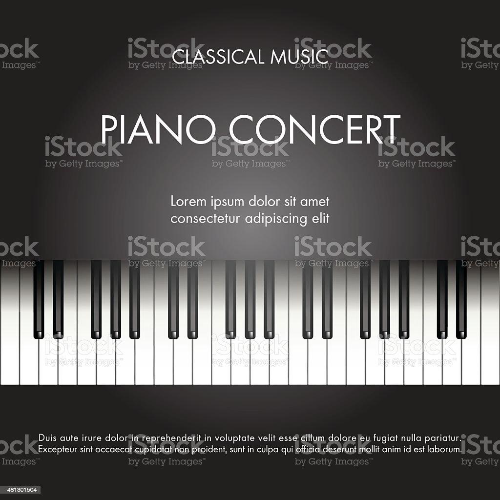 Piano concert vector art illustration