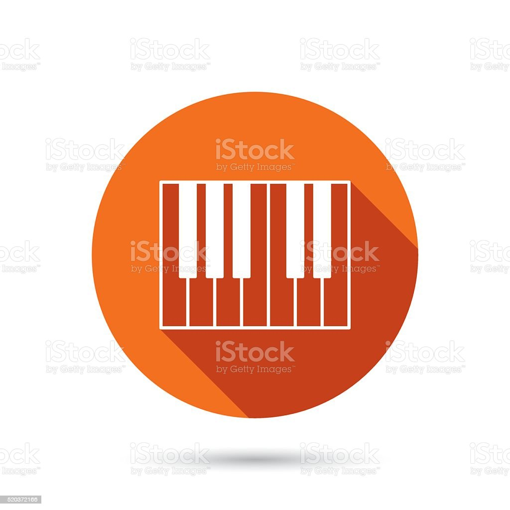 Piano icon. Royal musical instrument sign. vector art illustration