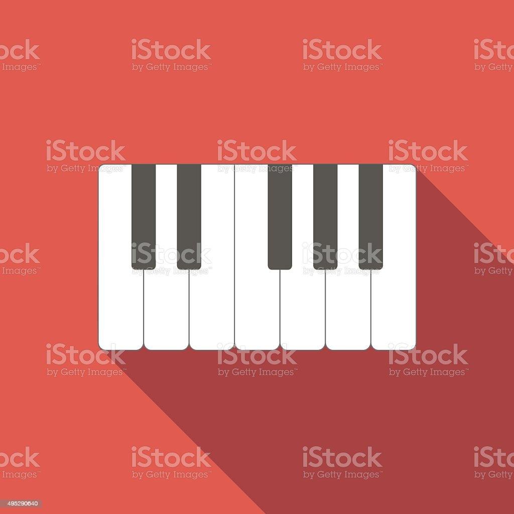 Piano keys icon vector art illustration