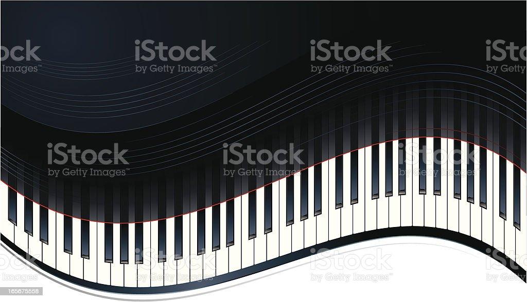 Piano Keys royalty-free stock vector art