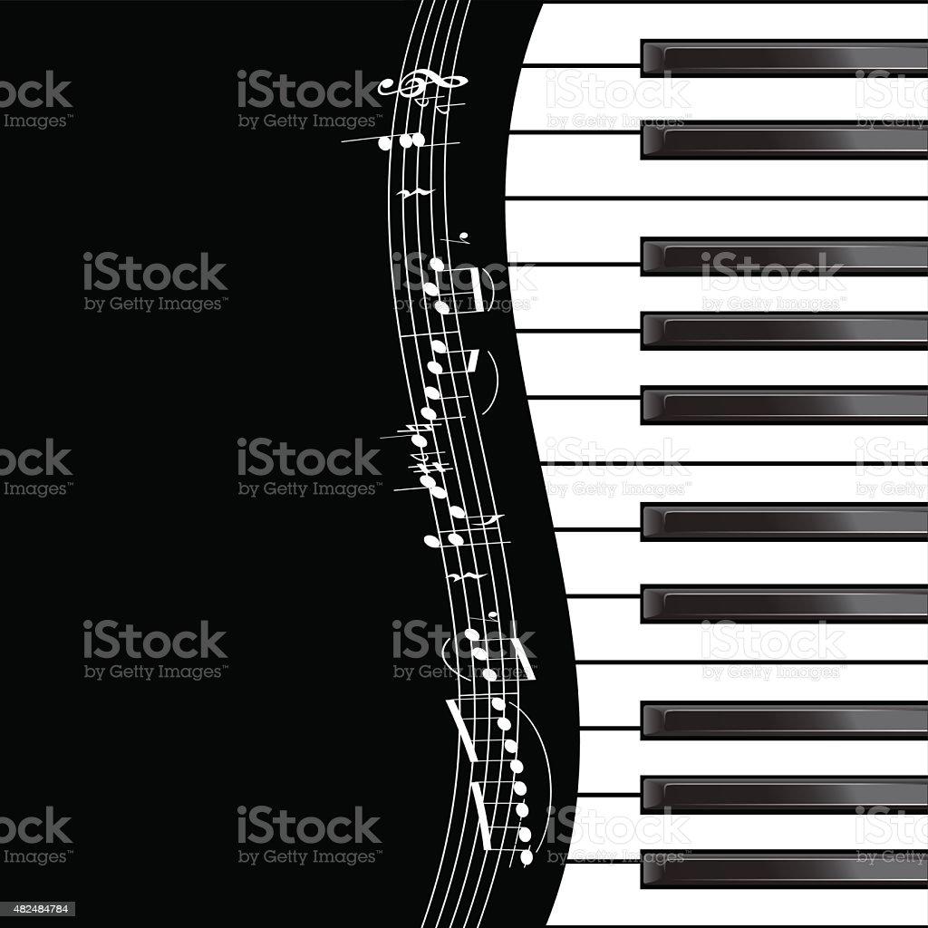 Piano template vector art illustration