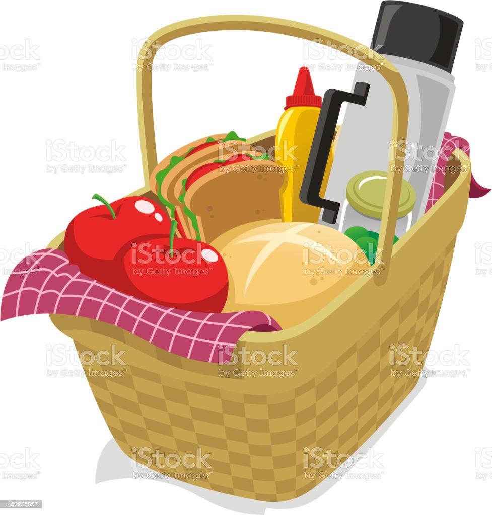 Pic Nic Basket royalty-free stock vector art