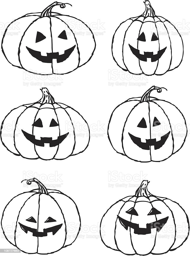 Pick a Pumpkin royalty-free stock vector art