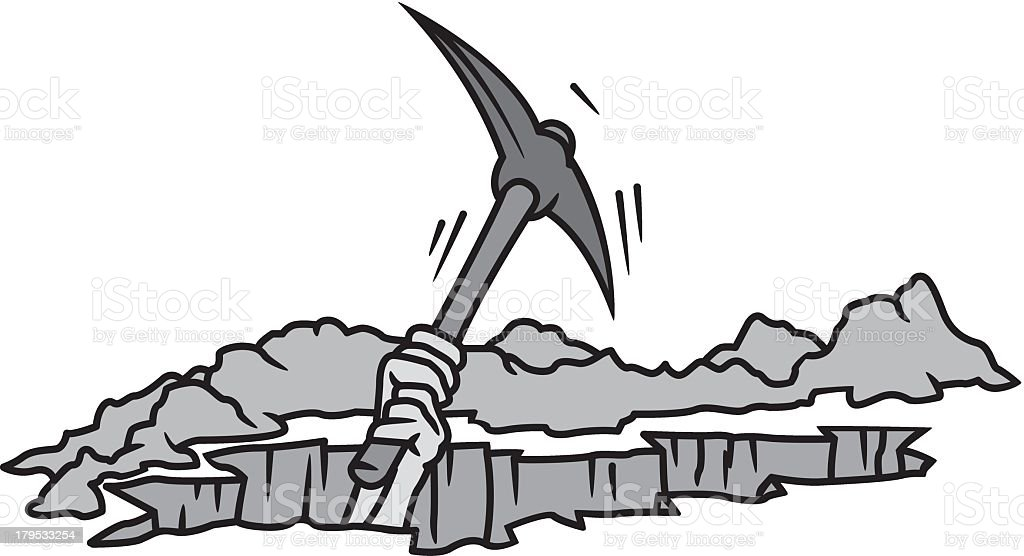 Pick Axe royalty-free stock vector art
