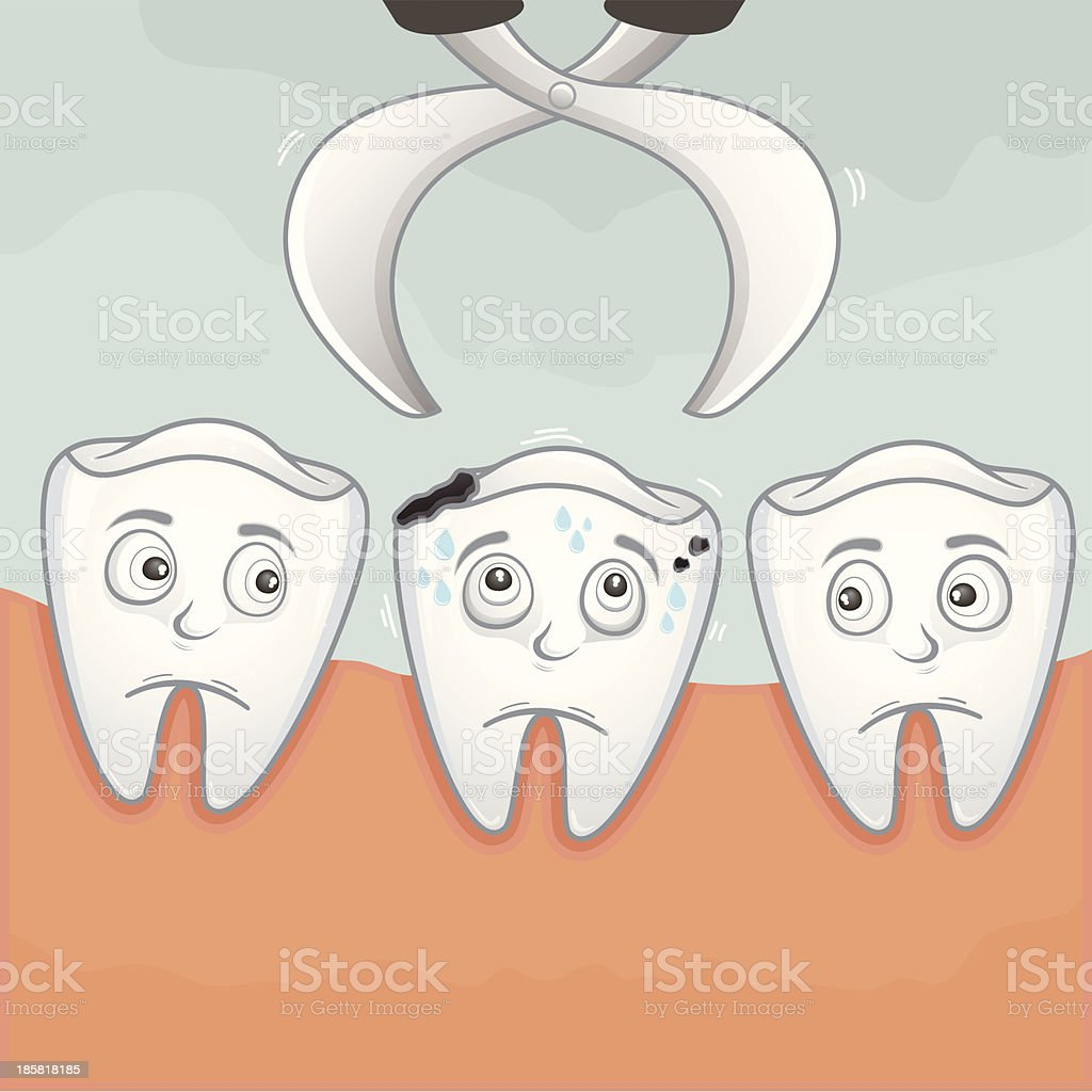 Pick up a tooth royalty-free stock vector art