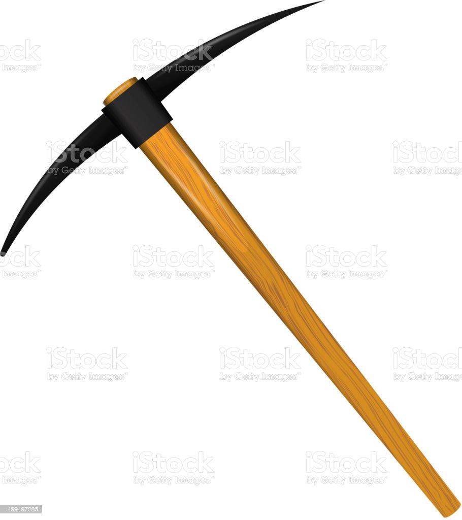 Pickaxe tool vector art illustration