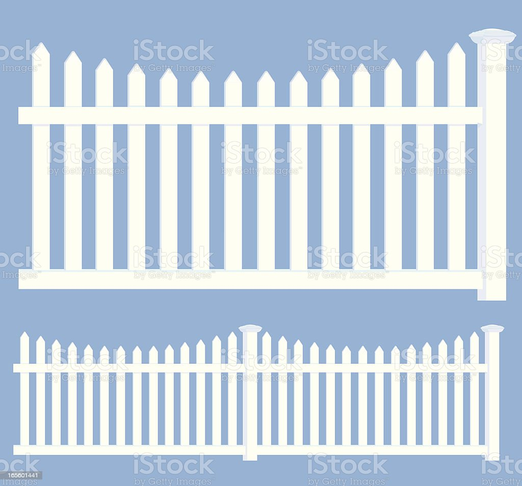 Picket Fence - Property Boundary vector art illustration
