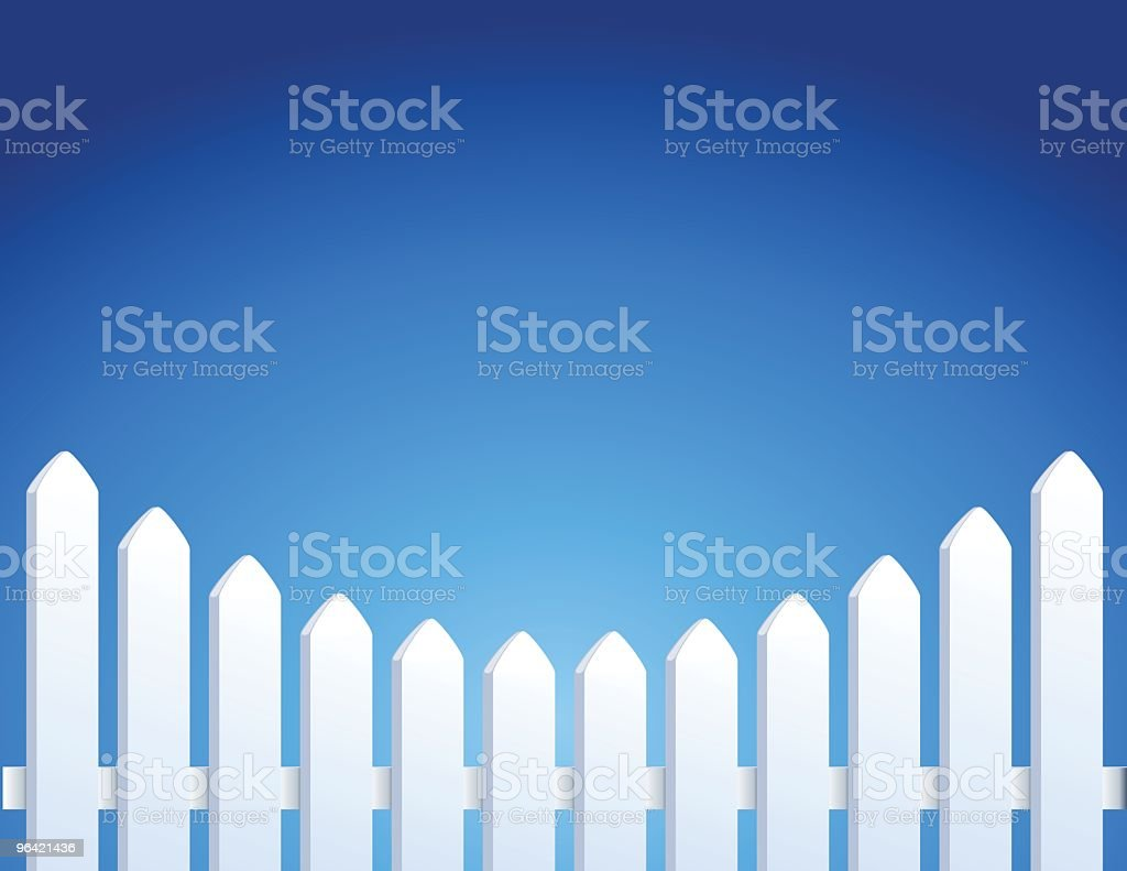Picket Fence vector art illustration