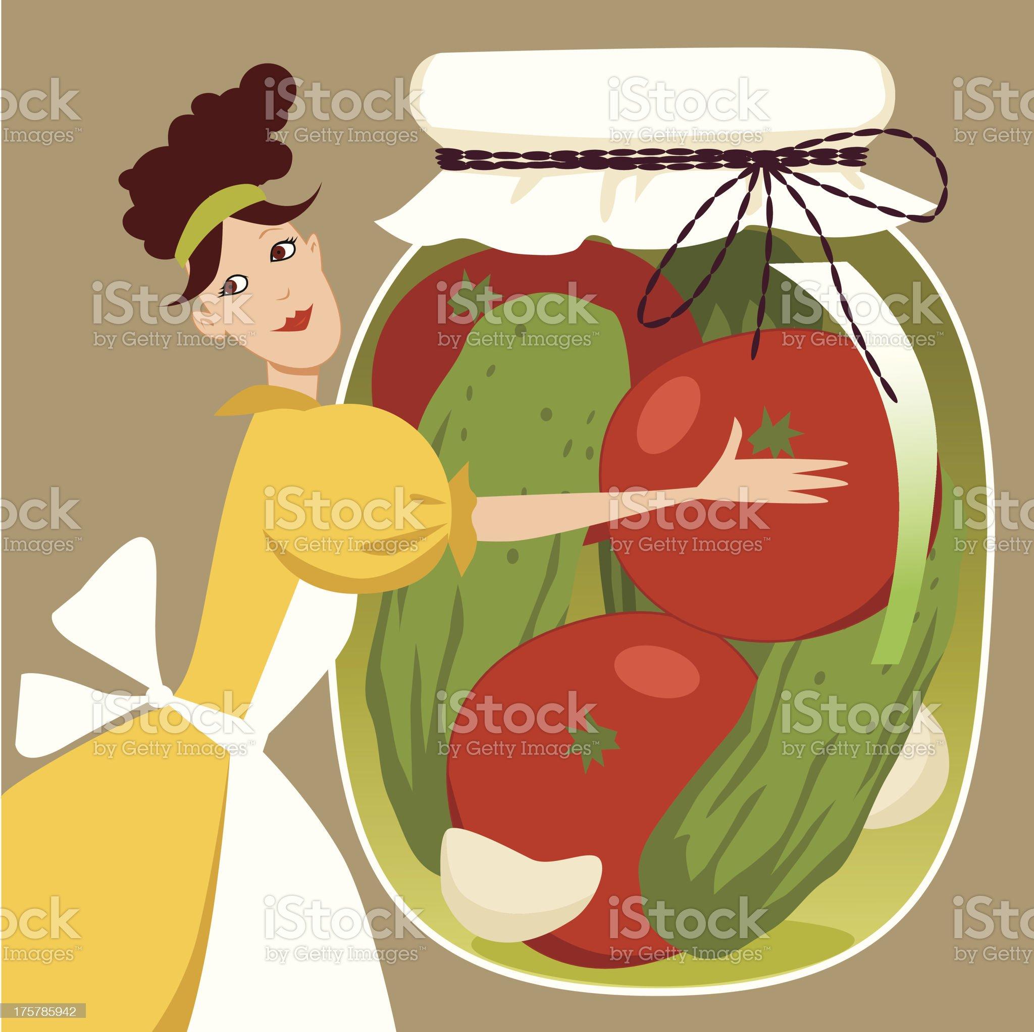 Pickled vegetables royalty-free stock vector art