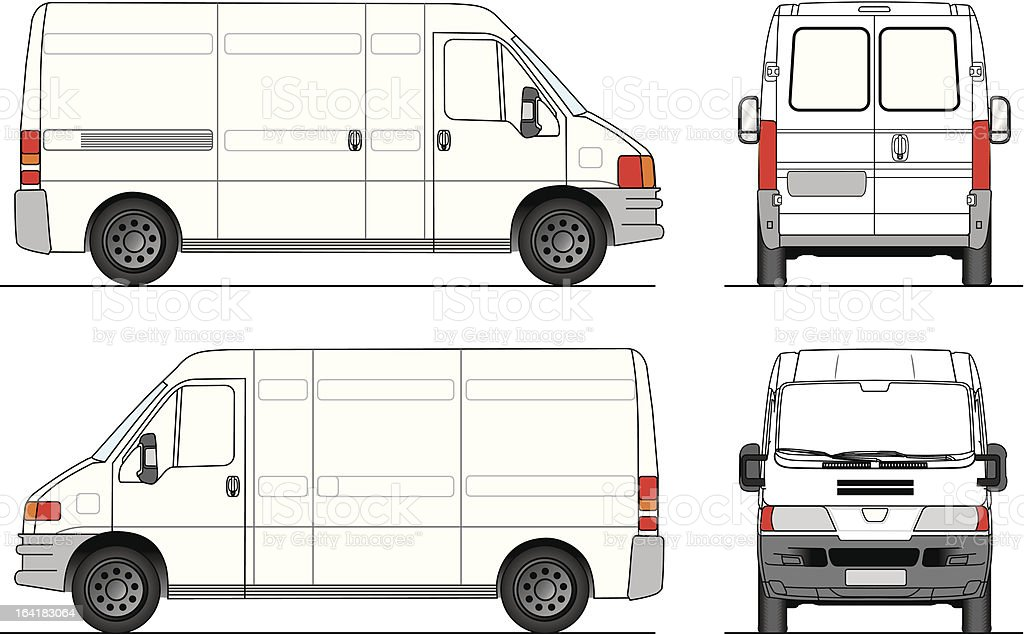Camioneta vector art illustration
