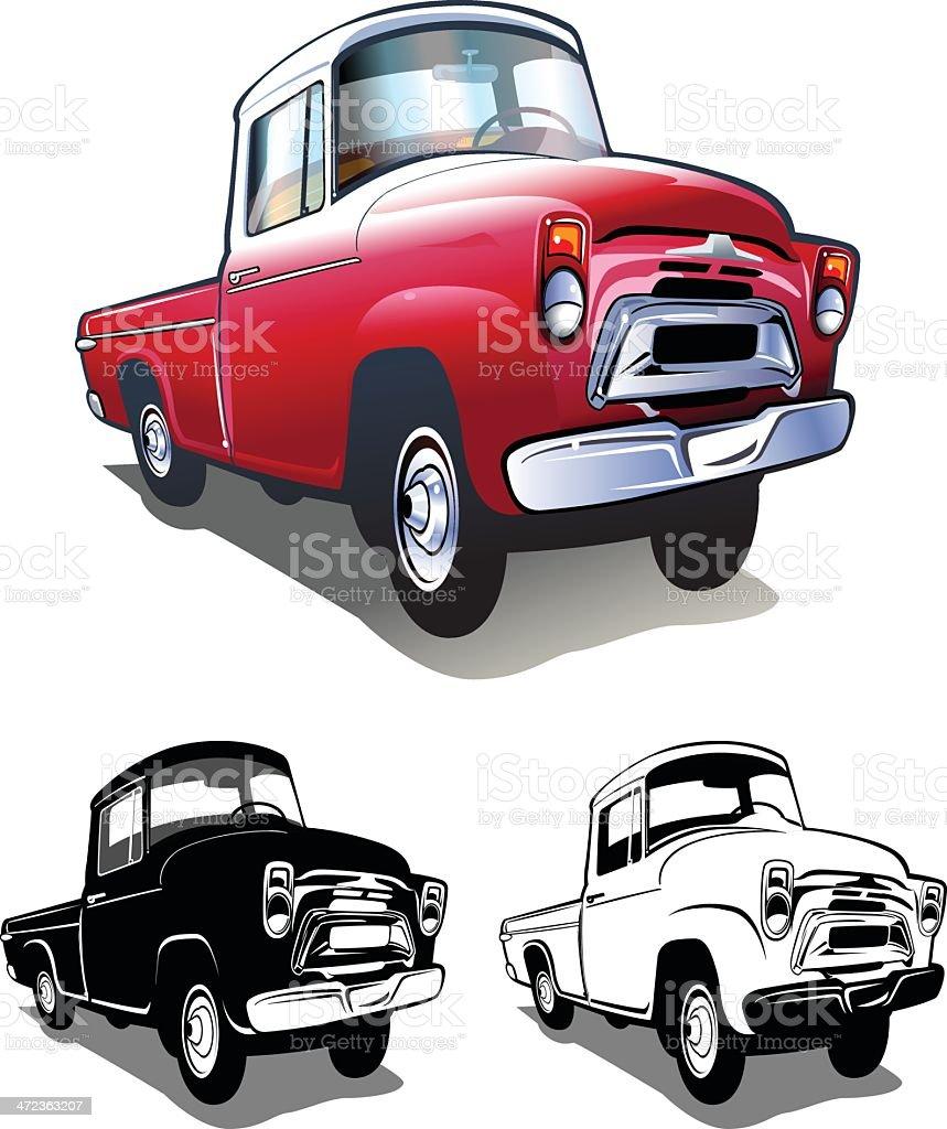 Pickup truck royalty-free stock vector art