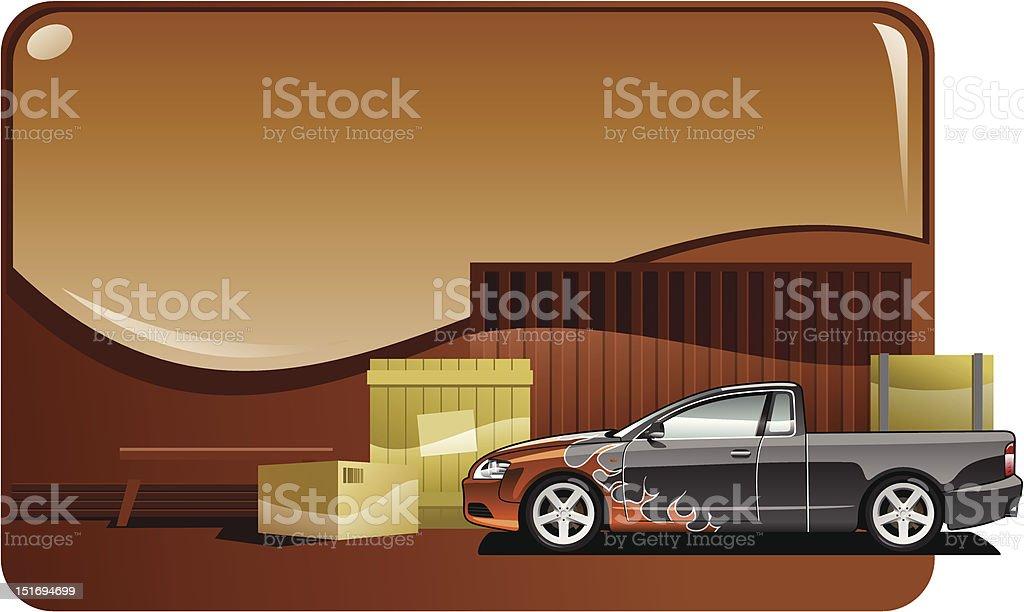 Pickup royalty-free stock vector art
