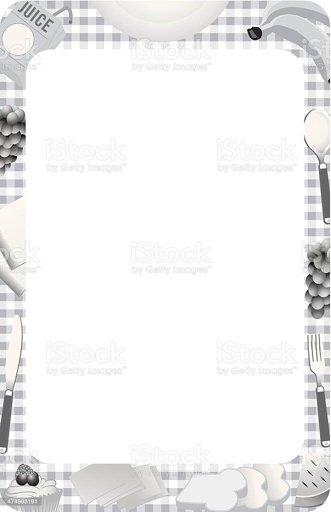 Picnic Frame vector art illustration