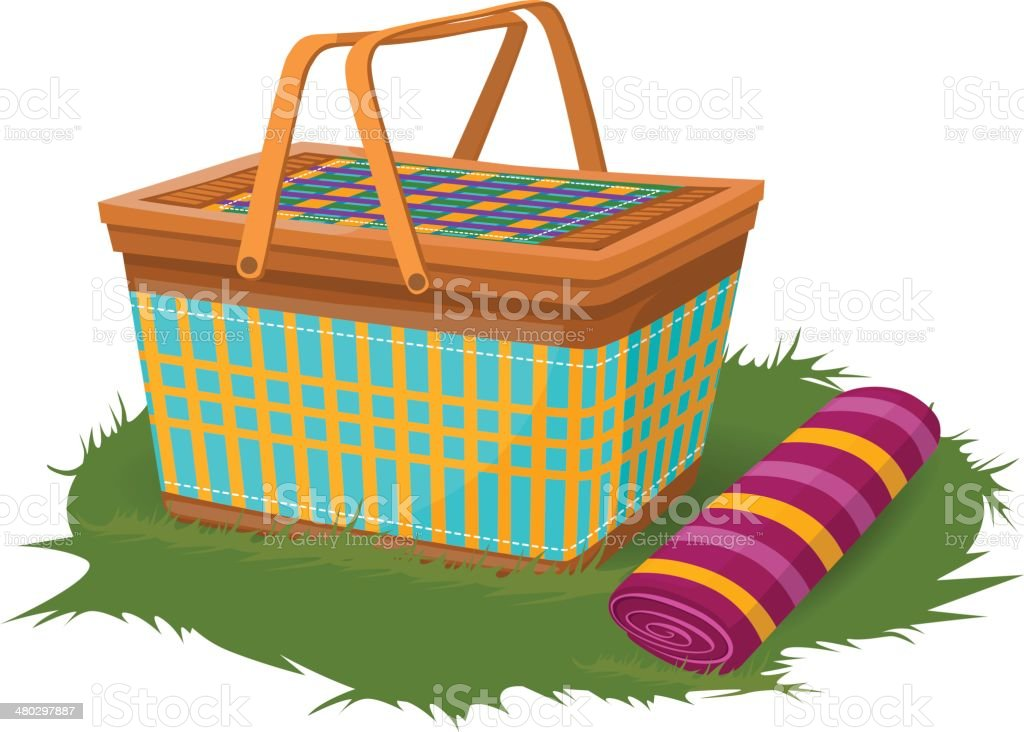 Picnic Basket Clip Art, Vector Images & Illustrations - iStock