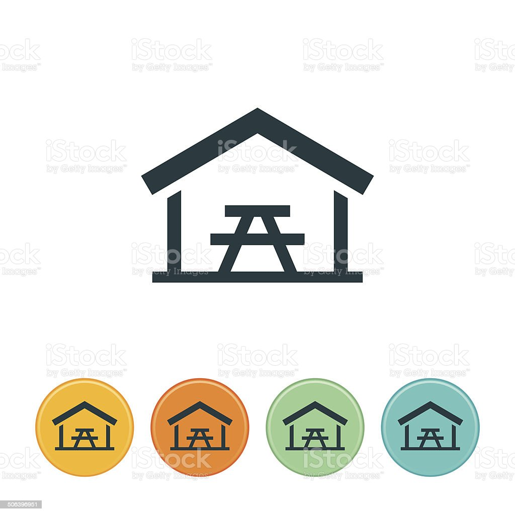 Picnic Table Icon royalty-free stock vector art