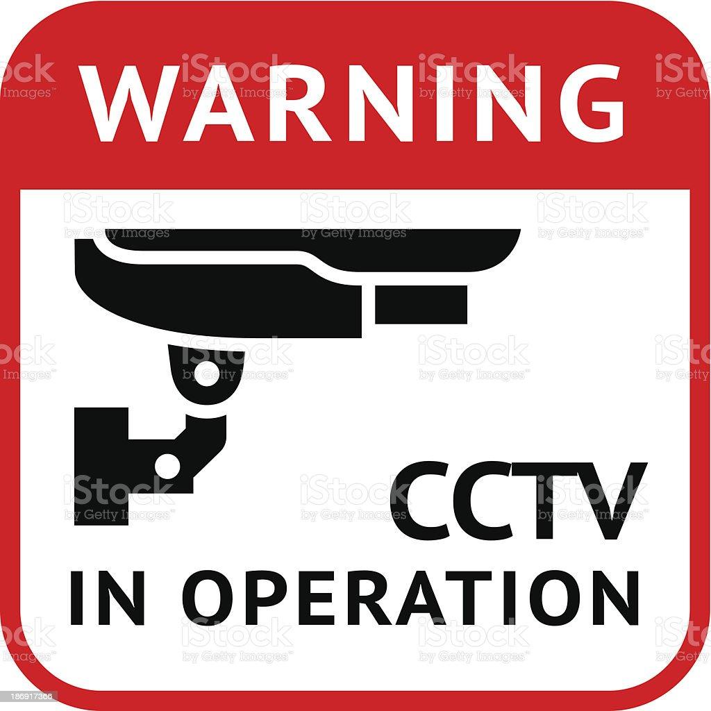 CCTV, pictogram security camera royalty-free stock vector art