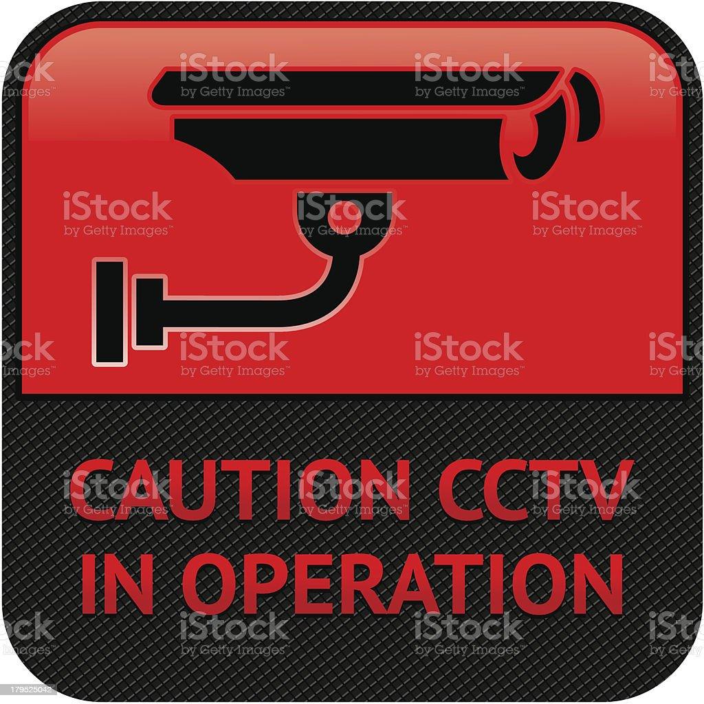 CCTV, символ безопасности камеры Пиктограмма для векторная иллюстрация