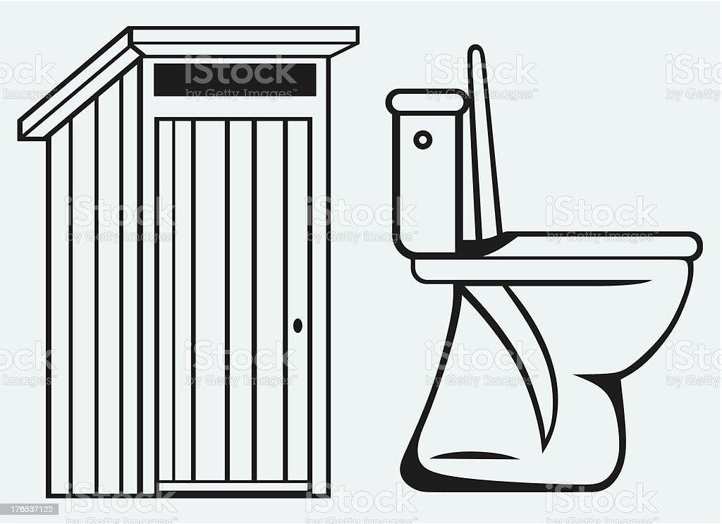 Pictogram toilet royalty-free stock vector art