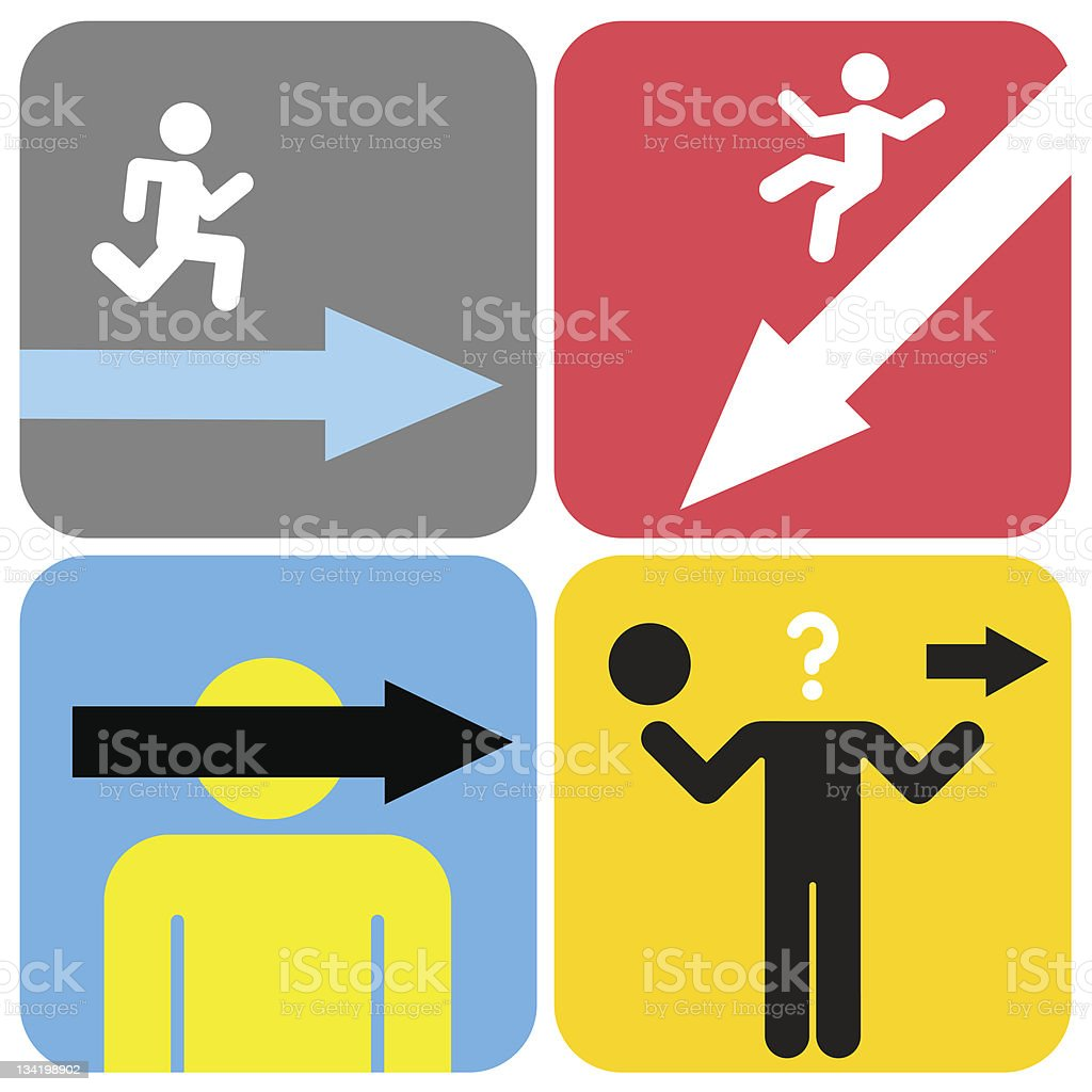 Pictograms royalty-free stock vector art