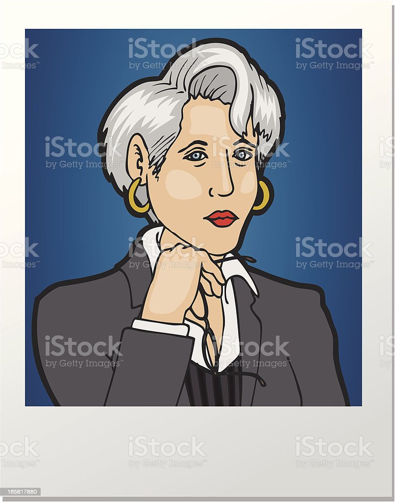 Picture Executive vector art illustration