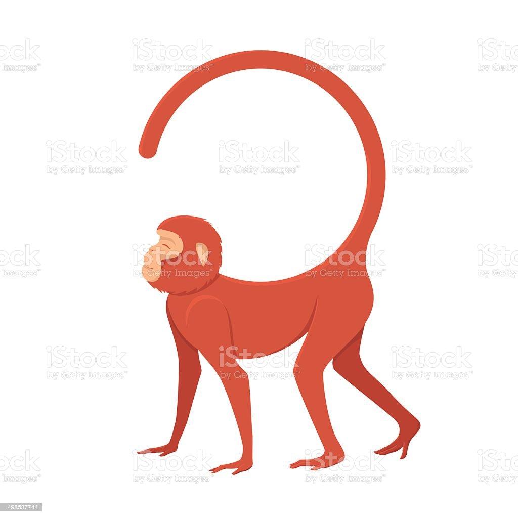 picture fiery monkey vector art illustration